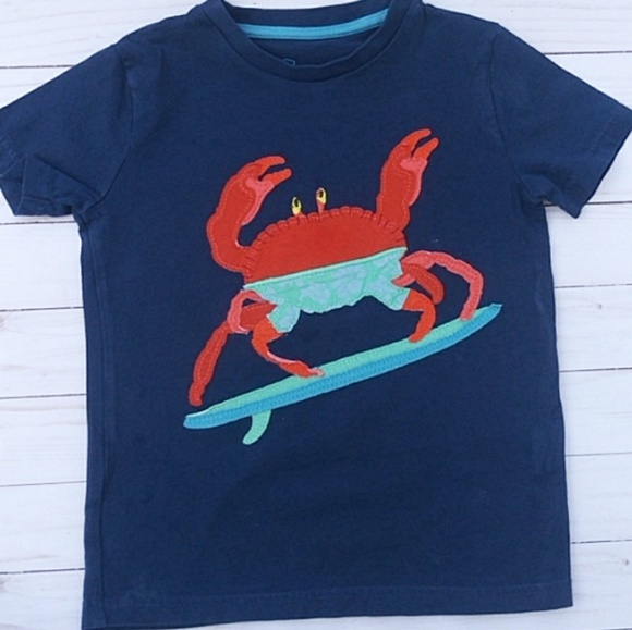 04063fb4dcc Mini Boden Shirts & Tops   Boys Surfing Crab Applique Sz 5 6   Poshmark